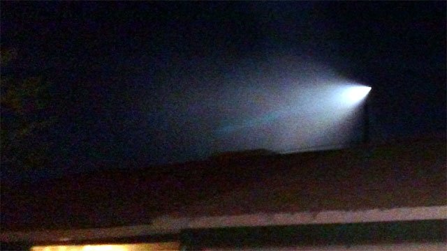 A picture of the bright light seen over Las Vegas on Nov. 7, 2015. (George Dunn/FOX5)