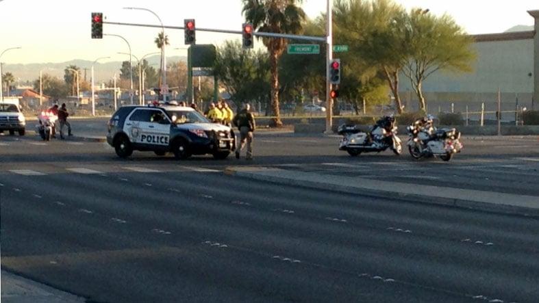 Man walking outside crosswalk struck killed in las vegas for Green light motors fremont