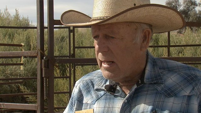 Nevada rancher Cliven Bundy appears in this image from Friday, Jan. 22. (Source: FOX5)