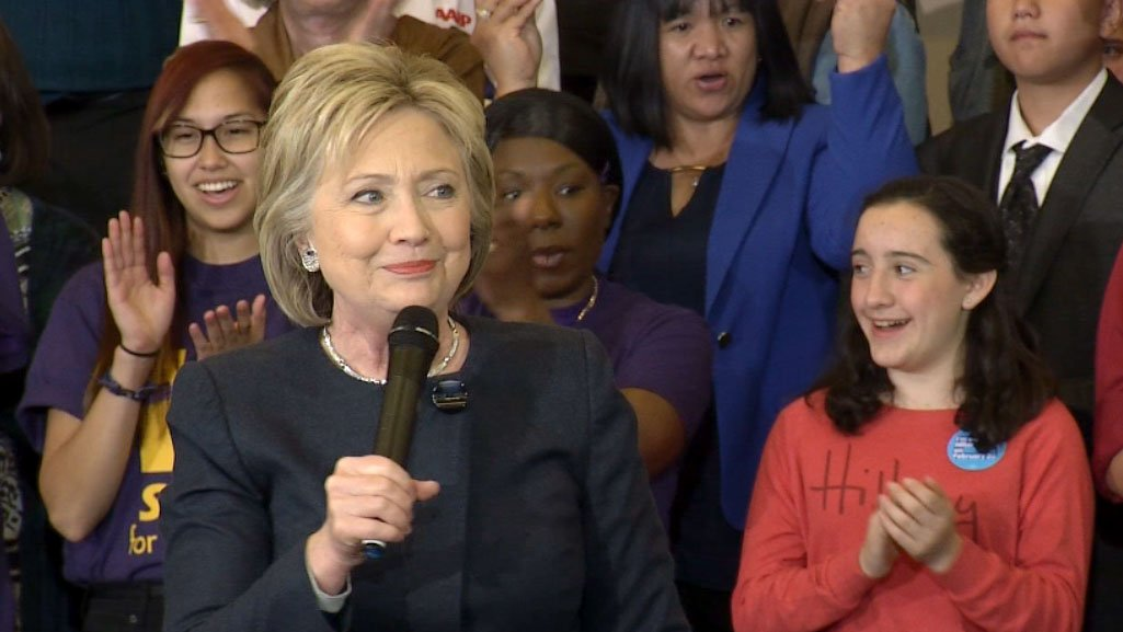 Hillary Clinton at a rally in Southern Nevada on Feb. 13, 2016. (Roger Bryner/FOX5)