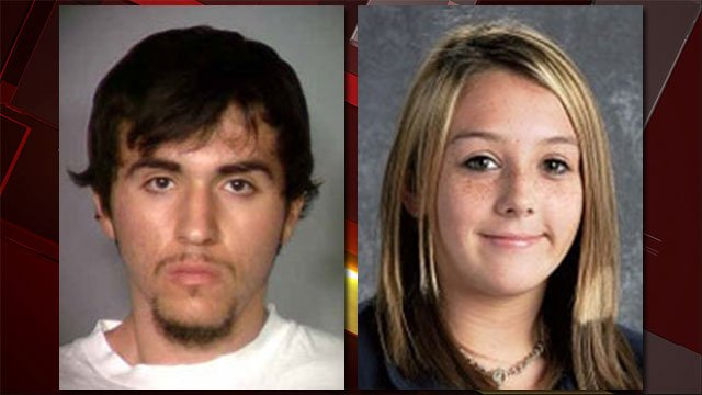 Javier Righetti, right, seen in his 2011 booking photo; Alyssa Otremba, right, seen in an undated yearbook photo. (LVMPD/CCSD)