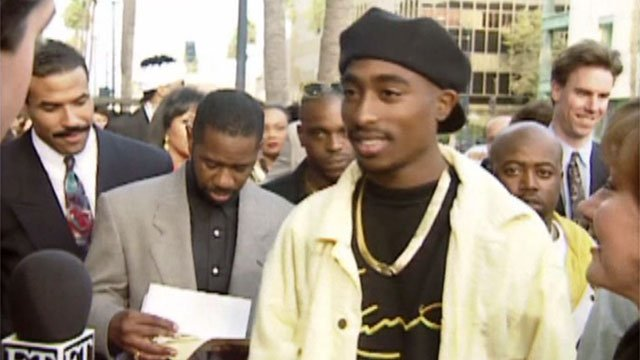 Rapper Tupac Shakur appears in this file image. (Source: File/FOX5)