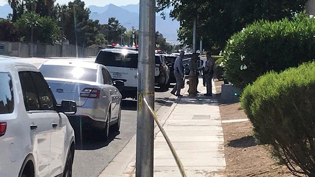Officers began investigating a woman's death in northwest Las Vegas Thursday afternoon, according to Las Vegas Metropolitan Police. (Photo: Eric Hilt / FOX5)