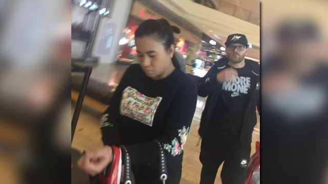 Las Vegas police released an image of two suspects wanted in connection with retail thefts. (Source: LVMPD)