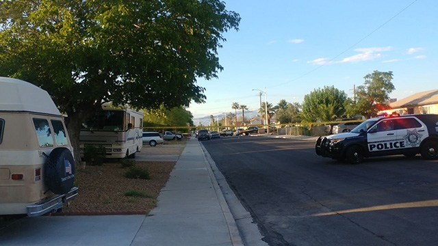 "Police said a ""neighbor dispute"" ended with a stabbing and arrest in west Las Vegas Friday. (Photo: David Marie)"
