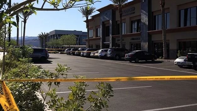 A two-year-old girl died Tuesday being struck by a car in a southwest Las Vegas hospital parking lot on April 23. (Gai Phanalasy / FOX5)