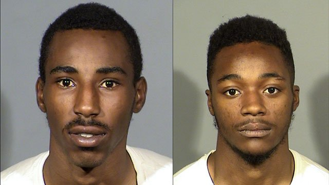Tyrone Eagland, left, and Zachary Hewitt, right, were arrested in connection to the shooting (LVMPD),