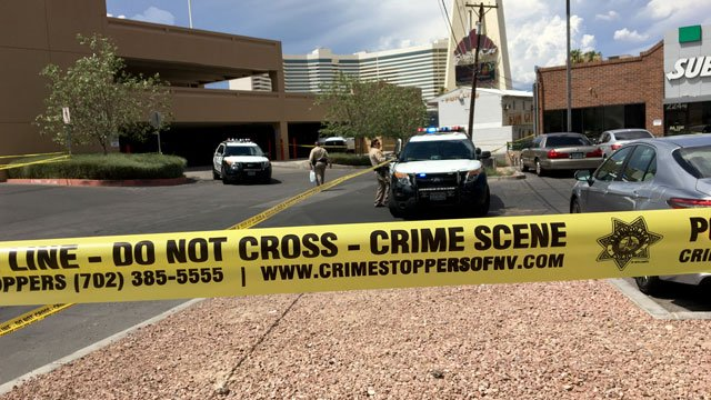Las Vegas Metro police investigate a shooting on July 19, 2018.  (Jason Westerhaus/FOX5)