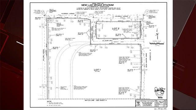 A map of Al Davis Way in Las Vegas. (Image: Erik Pappa/Clark County)